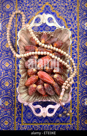 Dates - an important fruit in muslim culture during festive season. - Stock Photo