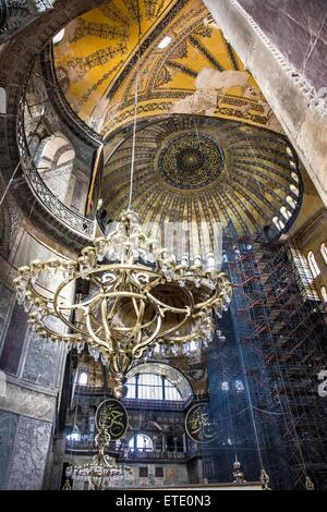 Hagia Sophia is a former Greek Orthodox patriarchal basilica, later an imperial mosque, and now a museum in Istanbul, - Stock Photo
