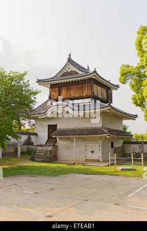 Original Tsukimi Yagura turret (circa 1597) of Okayama Castle in Okayama, Japan. Important Cultural Property - Stock Photo