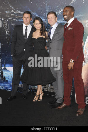 Los Angeles premiere of 'Jupiter Ascending' at TCL Chinese Theatre - Arrivals  Featuring: Mila Kunis, Channing Tatum, - Stock Photo