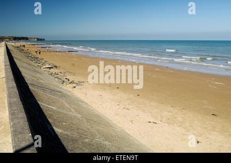 Omaha Beach, World War 2 Normandy landings - Stock Photo