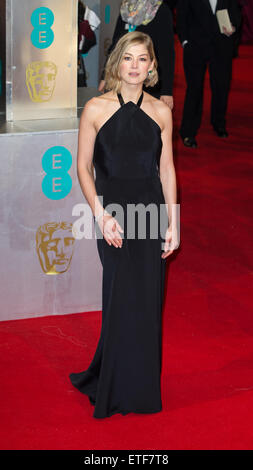 The EE British Academy Film Awards held at the Royal Opera House, Covent Garden - Arrivals  Featuring: Rosamund - Stock Photo