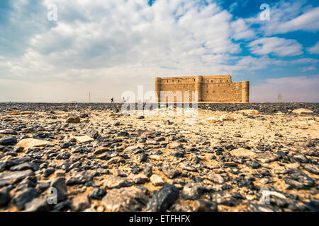 Desert castle Qasr Kharana near Amman - Stock Photo