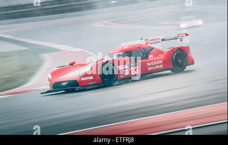 Nissan Nismo GT-R LMP1 driving at Circuit of the Americas in Austin, TX. - Stock Photo