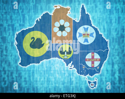 Australia administrative divisions Stock Photo Royalty Free Image