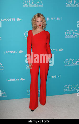 17th Costume Designers Guild Awards  Featuring: January Jones Where: Beverly Hills, California, United States When: - Stock Photo