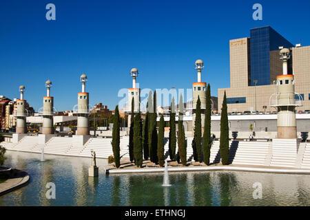 Parc de la Espanya Industrial, by Luis Peña Ganchegui. 1985. Barcelona. - Stock Photo