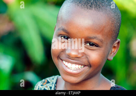 Young girl in southeastern suburb, Kigali, Rwanda - Stock Photo