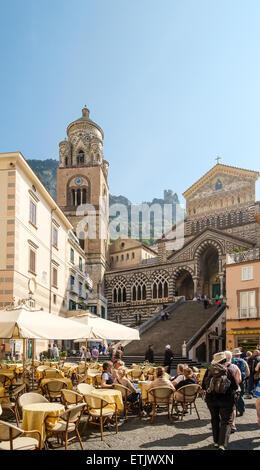 Piazza del Duomo, Amalfi, Italy - Stock Photo