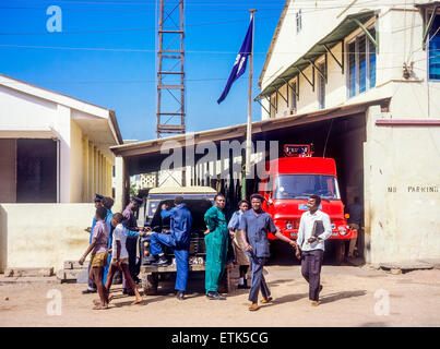 Police station, Banjul, Gambia, West Africa - Stock Photo