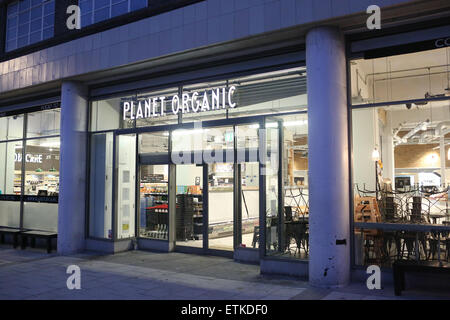 London, United Kingdom, 14 June 2015 - Planet Organic of Muswell Hill. A man was arrested close to the shop following - Stock Photo