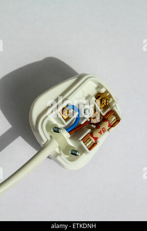 UK three pin plug - Stock Photo