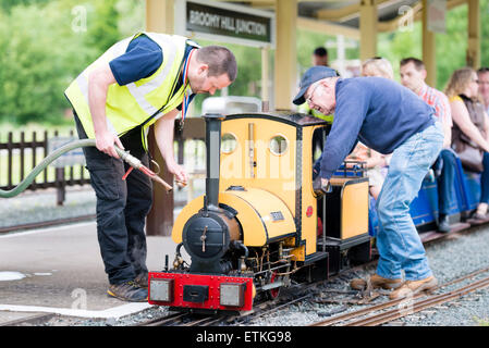 Hereford Society of Model Engineers 5' gauge miniature steam railway. - Stock Photo