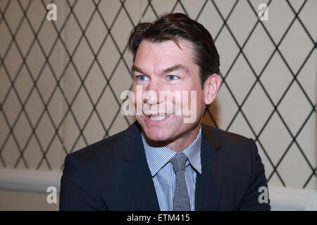Press junket for Broadway play Living On Love held at the Empire Hotel.  Featuring: Jerry O'Connell Where: New York - Stock Photo
