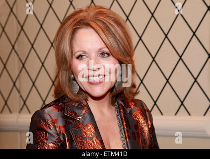Press junket for Broadway play Living On Love held at the Empire Hotel.  Featuring: Renée Fleming Where: New York - Stock Photo