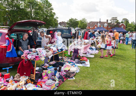 Titsey Rotary Club Car Van Boot Fair at Oxted recreational park Master Park 7th June 2015 - Stock Photo