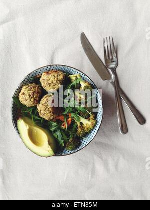 Baked falafel salad - Stock Photo
