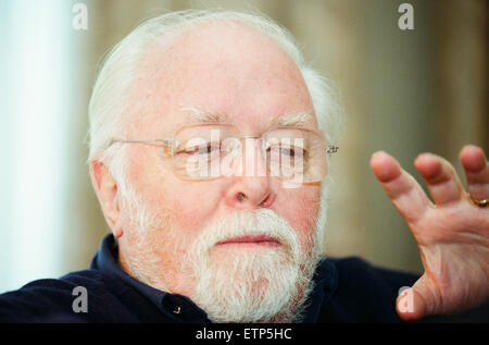 Sir Richard Attenborough, actor, film director, film producer, and entrepreneur. Pictured during interview at The - Stock Photo