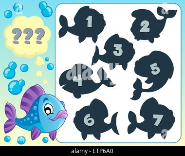 Fish riddle theme image 5 - picture illustration. - Stock Photo