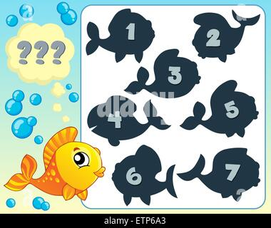 Fish riddle theme image 6 - picture illustration. - Stock Photo