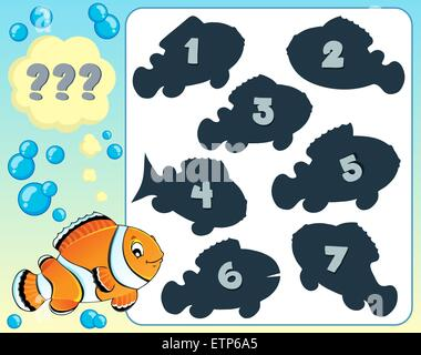 Fish riddle theme image 8 - picture illustration. - Stock Photo