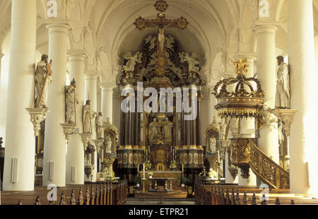 BEL, Belgium, Eastbelgium, Eupen, church St. Nikolaus.  BEL, Belgien, Ostbelgien, Eupen, Kirche St. Nikolaus. - Stock Photo