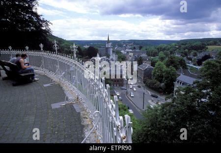 BEL, Belgium, Eastbelgium, Eupen, view from the Moorenhoehe to the Haasstreet.  BEL, Belgien, Ostbelgien, Eupen, - Stock Photo