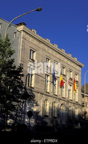 BEL, Belgium, Eastbelgium, Eupen, the parliament building of the German-speaking Community at the street Kaperberg. - Stock Photo
