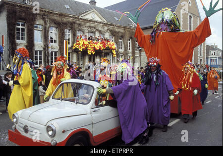 BEL, Belgium, Eastbelgium, Eupen, carnival, carnival monday, the town hall.  BEL, Belgien, Ostbelgien, Eupen, Karneval, - Stock Photo