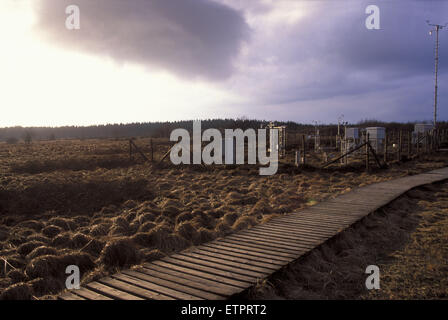 BEL, Belgium, Eastbelgium, Hautes Fagnes, Hohes Venn, meteorological station.  BEL, Belgien, Ostbelgien, Hohes Venn, - Stock Photo