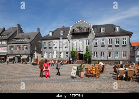 Goslar, Marktplatz (market square) with Kaiserring House - Stock Photo