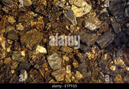 BEL, Belgium, Eastbelgium, Hautes Fagnes, Hohes Venn, stones in the river Tros Marets near Hockai.  BEL, Belgien, - Stock Photo