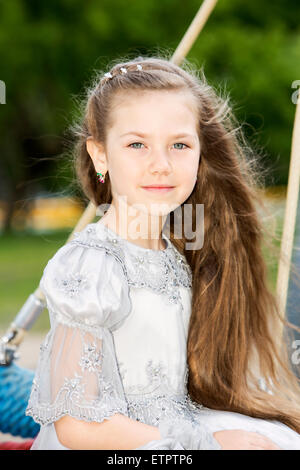 Close-up portrait of a lovely little girl - Stock Photo