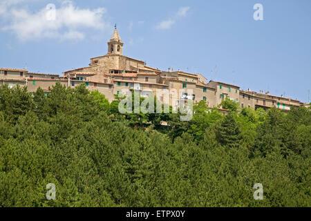 europe, italy, tuscany, monticello amiata village - Stock Photo