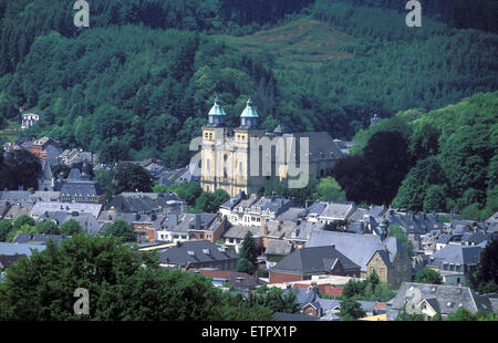 BEL, Belgium, Eastbelgium, view to the city of Malmedy with the church St. Peter and Paul.  BEL, Belgien, Ostbelgien, - Stock Photo