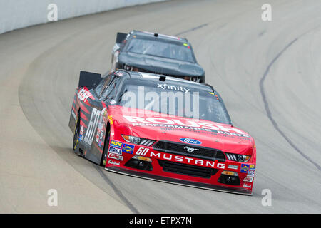 Brooklyn, MI, USA. 14th Mar, 2015. Brooklyn, MI - Jun 12, 2015: 50n takes to the track for the Great Clips 250 at - Stock Photo