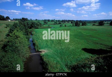 BEL, Belgium, Eastbelgium, the river Ambleve near Ambleve-Montenau.  BEL, Belgien, Ostbelgien, die Amel bei Amel - Stock Photo