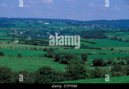 BEL, Belgium, Eastbelgium, fields between Valender and  Meyerode near Ambleve.  BEL, Belgien, Ostbelgien, Felder - Stock Photo