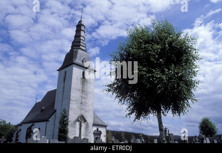 BEL, Belgium, Eastbelgium, Weweler, St. Hubertus chapel.  BEL, Belgien, Ostbelgien, Weweler, St. Hubertus Kapelle. - Stock Photo
