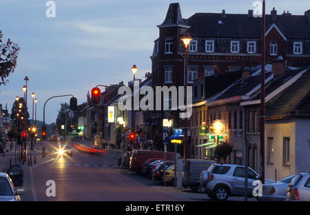 BEL, Belgium, Eastbelgium, Kelmis, Calamine, houses at the street from  Aachen to Liege.  BEL, Belgien, Ostbelgien, - Stock Photo