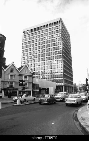 ES & A Robinson's Headquarters and Bristol's first skyscraper at One Redcliffe Street, Bristol 30th October 1967 - Stock Photo