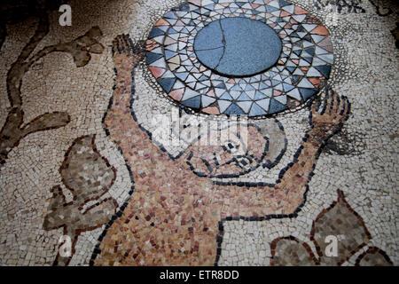 Mosaico, Cathedral, Otranto, Apulia, Italy - Stock Photo