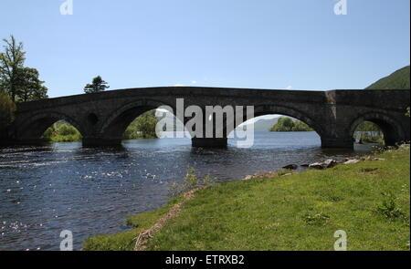 Kenmore Bridge over River Tay Scotland  June 2015 - Stock Photo