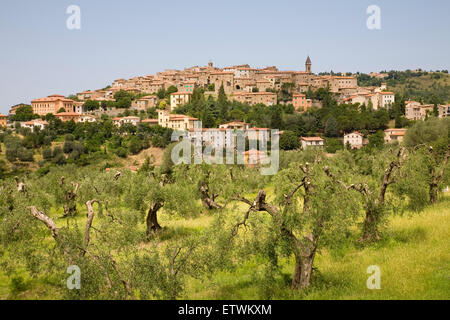 europe, italy, tuscany, seggiano village - Stock Photo