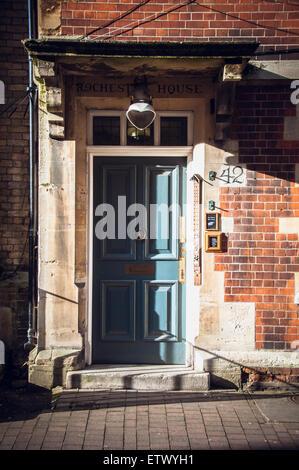 Vintage doors and gates of Oxford, United Kingdom - Stock Photo