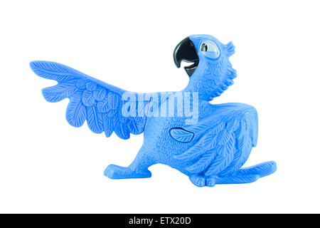 Bangkok,Thailand - February 24, 2015: Blu the  blue macaws toy character form RIO animation film. - Stock Photo