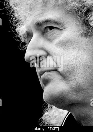 Brian May (former Queen guitarist) at National March Against the Badger Cull, Saturday 1st June 2013, London - Stock Photo