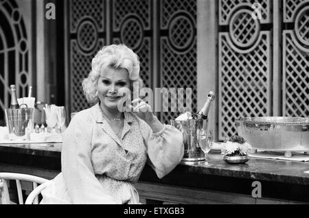 Zsa Zsa Gabor in London. 6th July 1980. - Stock Photo