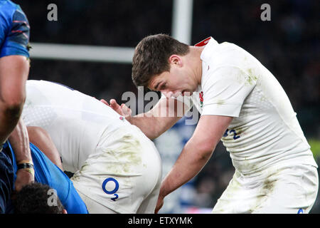 RBS 6 Nations England v France at Twickenham Stadium  Featuring: Ben Youngs Where: London, United Kingdom When: - Stock Photo