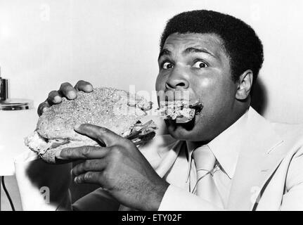 Muhammad Ali (born Cassius Marcellus Clay, Jr.; January 17, 1942) is an American former professional boxer, generally - Stock Photo